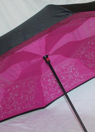 Зонт обратного сложения up brella зодиак розовый
