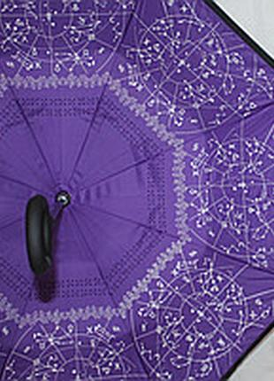 Зонт обратного сложения up brella зодиак фиолетовый