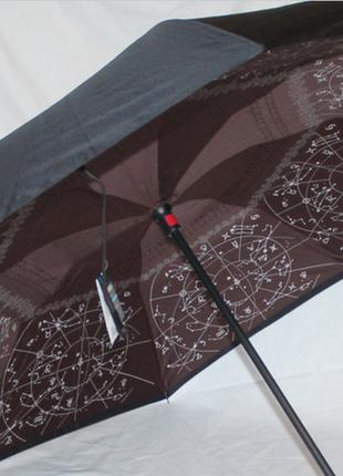 Зонт обратного сложения up brella зодиак коричневый