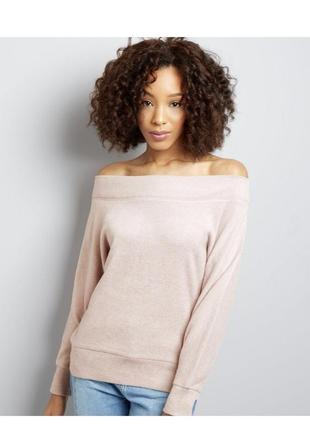 Нежный мягкий свитер с открытыми плечами, тёплый свитшот оверсайз, джемпер
