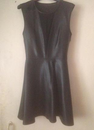 Кожаное платье kira plastinina