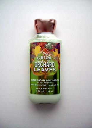 Парфюмированный лосьон для тела bath and body works body lotion crisp orchard leaves