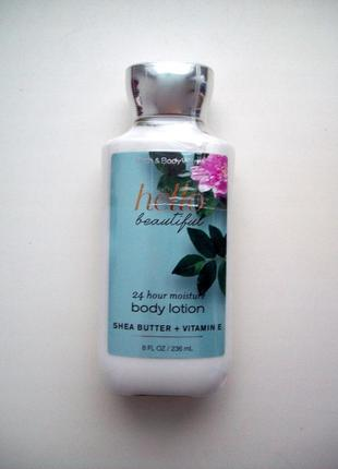 Парфюмированный лосьон для тела bath and body works body lotion hello beautiful