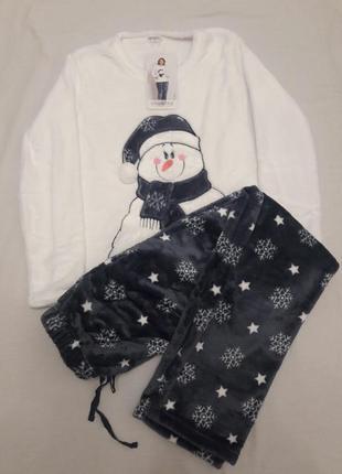 Плюшевый женский комплект, пижама