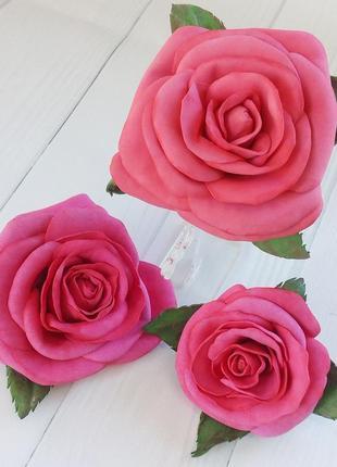 Заколки, заколочки розы ручной работы