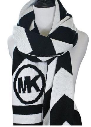 Черно-белый шарф michael kors