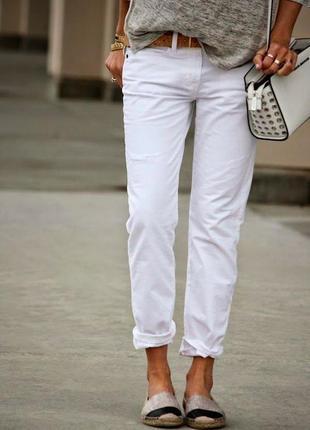 Белые джинсы,штаны,брюки (хлопок+эластан)большой размер