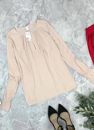 Шелковая блуза в нюдовом цвете  bl1849198 h&m