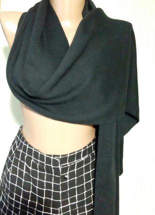 Качественный, брендовый, длинный трикотажный шарф. jack&jones. цвет черный