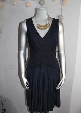 Синие миди платье strenesse