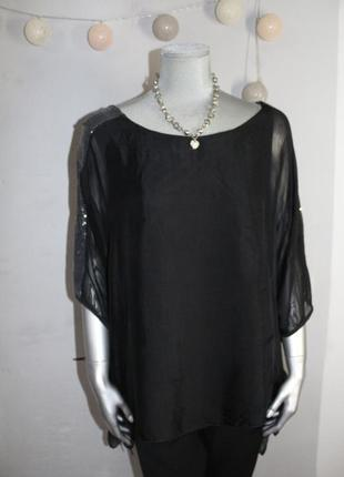 Черная шелковая блуза италия