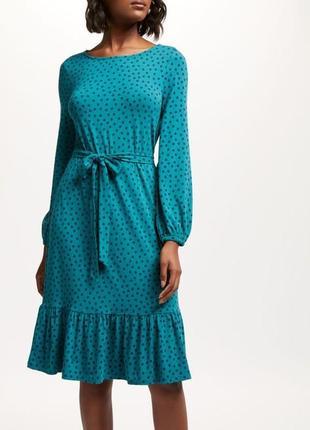 Шикарное платье миди в горошек boden