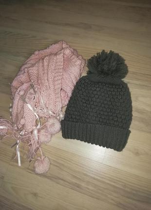 1+1=3🐇шапка зимняя шарф в подарок