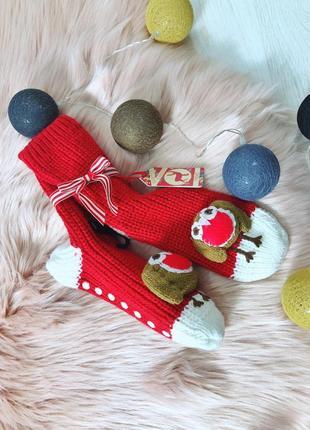 Новогоднии, тёплые носки от next