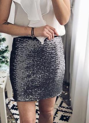 Шикарная нарядная юбка в паетки на новый год