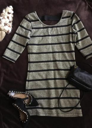 Золотистое ,нарядное,новогоднее коктельное мини гольф туника платье