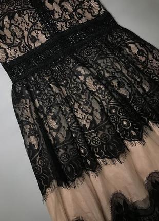 Нарядное платье кружево вечернее платье s-m