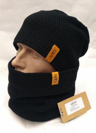 Зимний комплект шапка и хомут