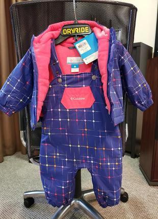 Куртка + полукомбинезон columbia omni-shield с флисовой подкладкой, 12 мес.