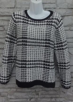 Распродажа!!! красивый черно-белый свитер