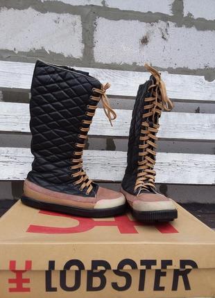 Натуральная кожа и натуральный мех. зимние сапоги, ботинки, кеды lobster
