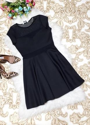 Платье со вставками сетки
