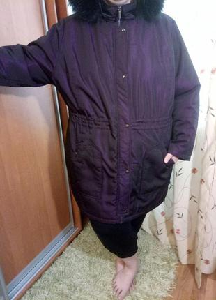 Отличная удлиненная курточка (короткое пальто) evans 30/32 размер (батал)