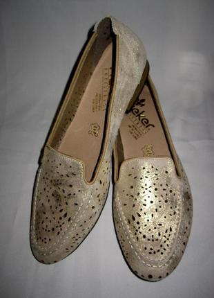 Туфли rieker antistress раз 40 натуральная мягенькая перфорированная кожа