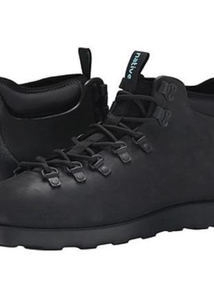 Зимние ботинки черные native shoes оригинал