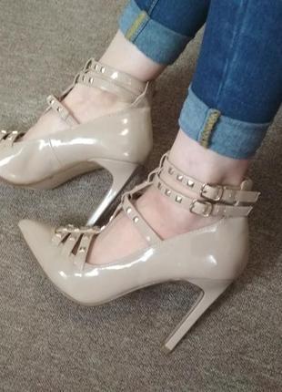 Лодочки босоножки туфли new look
