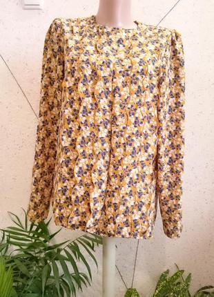 Французская блуза горчичного цвета1