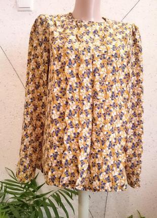 Французская блуза горчичного цвета3