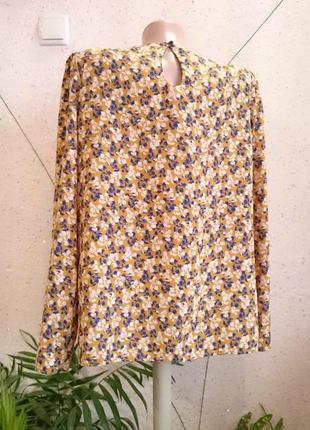 Французская блуза горчичного цвета4