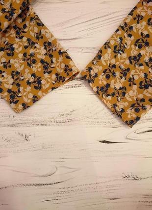 Французская блуза горчичного цвета5