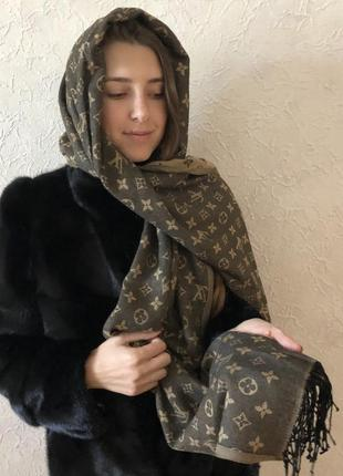Двухсторонний шарф платок louis vuitton