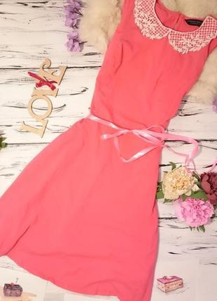 Красивое платте с воротничком4 фото