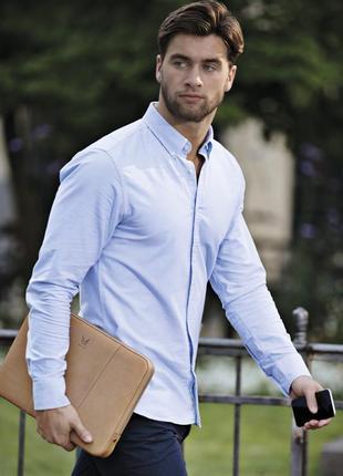 Голубая сорочка приталенного кроя (slim fit)