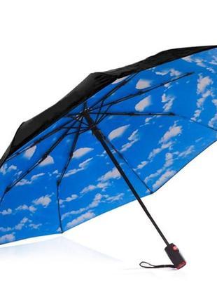 Женский зонт автомат. зонт с голубым небом. качество люкс!
