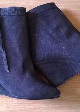 Кожаные ботильоны 38р. 24,7 см. black lily  дания, бренд, качество, стиль2