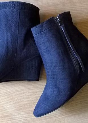 Кожаные ботильоны 38р. 24,7 см. black lily  дания, бренд, качество, стиль3