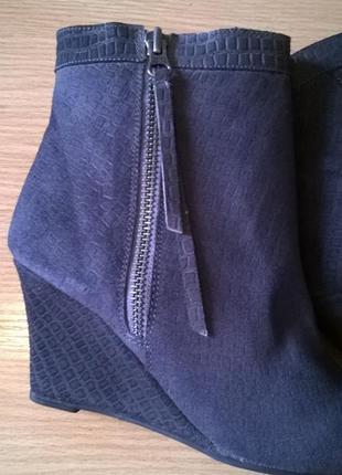 Кожаные ботильоны 38р. 24,7 см. black lily  дания, бренд, качество, стиль5