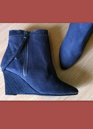 Кожаные ботильоны 38р. 24,7 см. black lily  дания, бренд, качество, стиль1