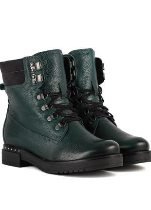 1018цп женские ботинки melano,кожаные,на низком ходу,на каблуке,на толстой подошве