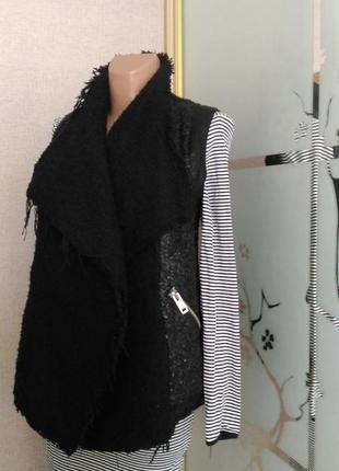 Стильная, шикарная жилетка буклированная ткань) пог 46 от simply city1 фото
