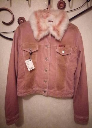 Демисезонный вельветовый пиджак.essenza
