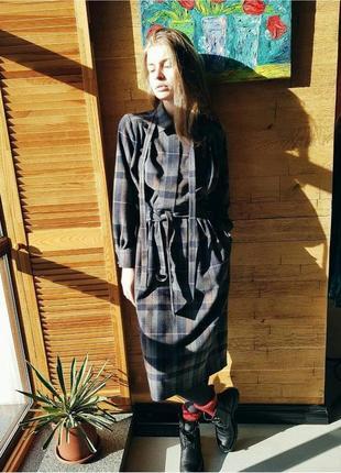 Теплое шерстяное платье миди1