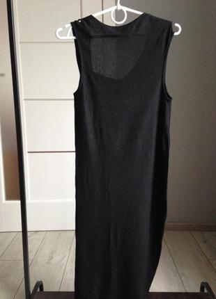 Лёгкое шёлковое платье миди в идеале хс-с massimo dutti| 70% шелк4