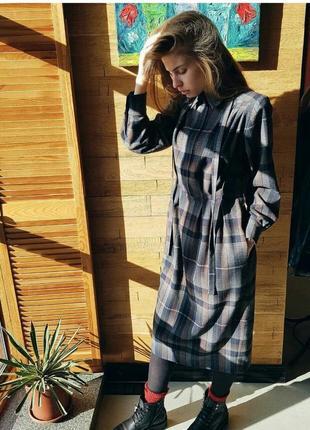 Теплое шерстяное платье миди2