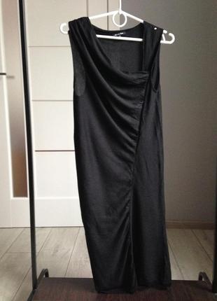 Лёгкое шёлковое платье миди в идеале хс-с massimo dutti| 70% шелк