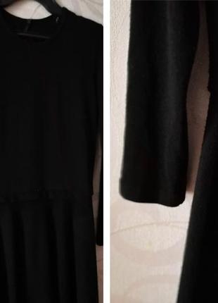 Черное платье-миди, винтаж, вязаное платье, теплое коктейльное платье, новый год, ретро2